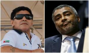 Maradona et Romario taclent sévèrement le Président de la FIFA Zepp Blatter