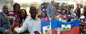 Monde: Accueil chaleureux à l'équipe haitienne, championne du monde de Hockey-balle