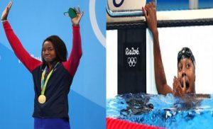 JO RIO 2016: Simone Manuel, première nageuse noire médaillée d'or en individuel