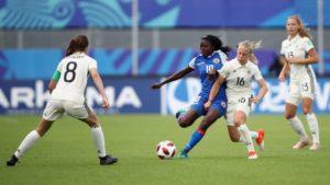 Mondial U-20 France 2018: Nérilia Mondésir, Joueuse du Match Allemagne vs Haïti