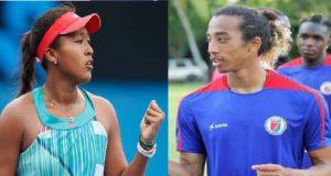 La jeune superstar du tennis féminin Naomi Osaka et le jeune grenadier Zachary Herivaux  sont cousins
