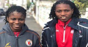 Haiti: Les jeunes grenadières Batcheba et Kethna en route pour la France