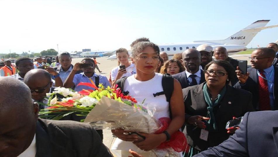 Haïti: Naomi Osaka, accompagnée de sa famille, en visite actuellement à Jacmel