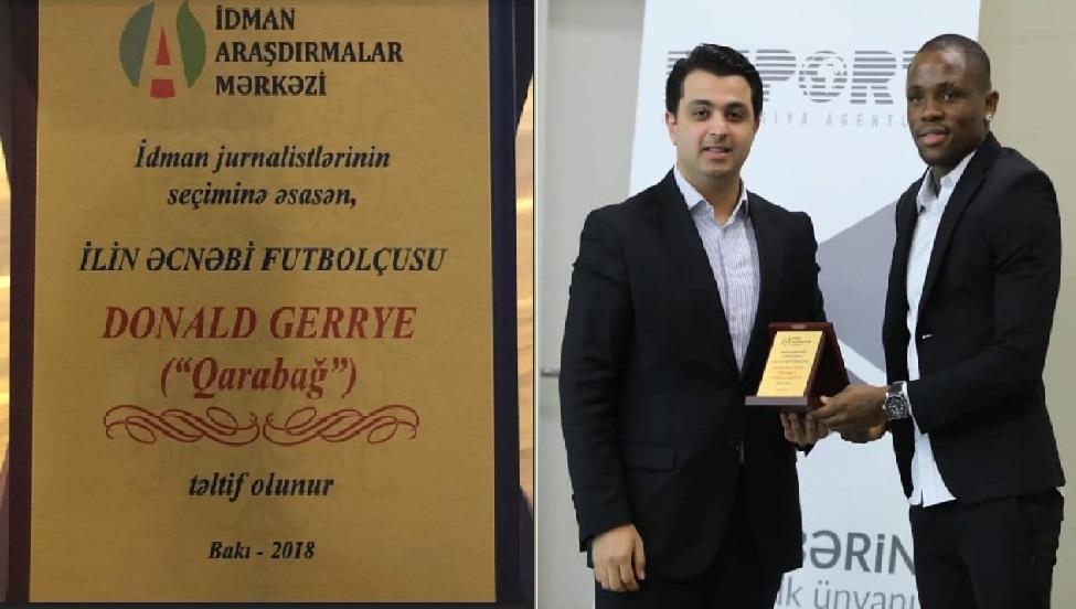 Monde: L'international haitien Donald Guerrier élu meilleur joueur en Azerbaïdjan