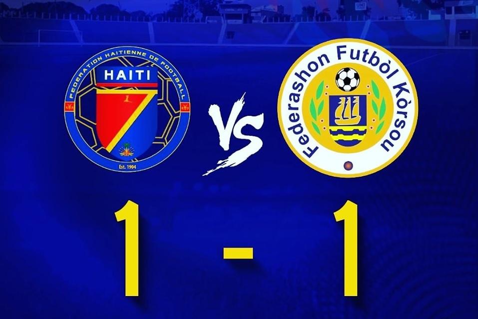 Ligue des nations: Haïti concède le nul face à Curaçao au stade Sylvio Cator