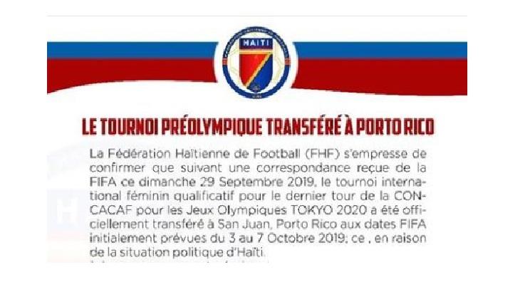 JO Tokyo 2020: La FHF confirme la décision de la CONCACAF et ses conséquences