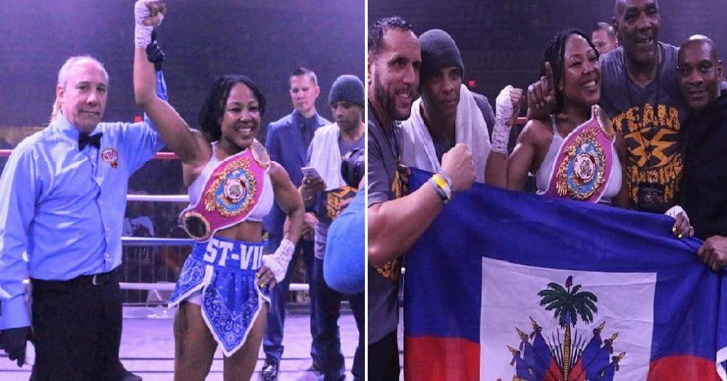 L'Haitiano-américaine, Melissa St-Vil, championne de la WBO