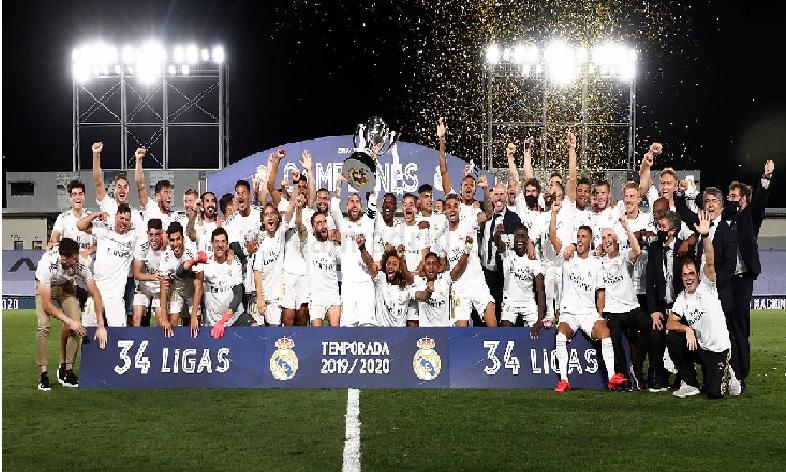 Monde: Le Real Madrid champion d'Espagne pour la 34ème fois de son histoire